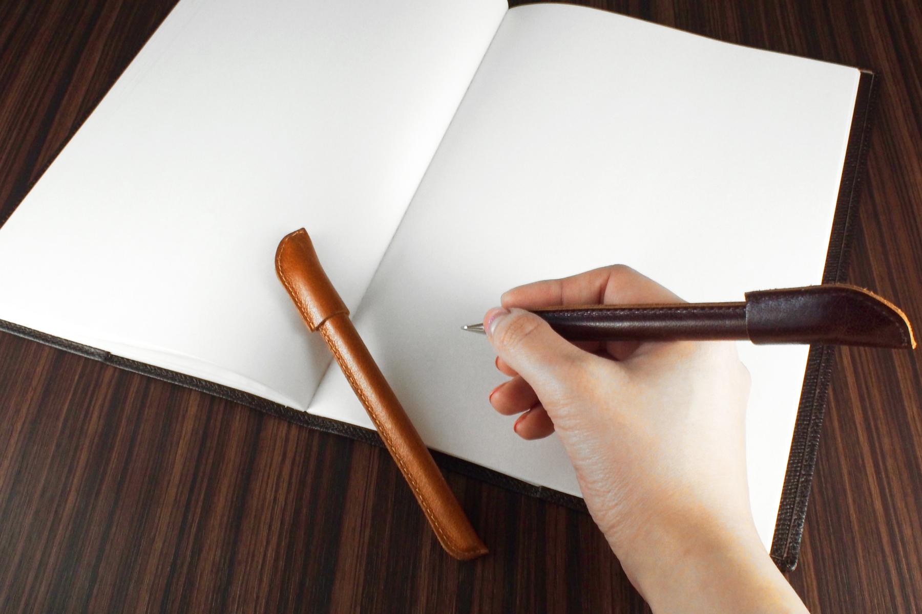 革巻きボールペンを使用したイメージ