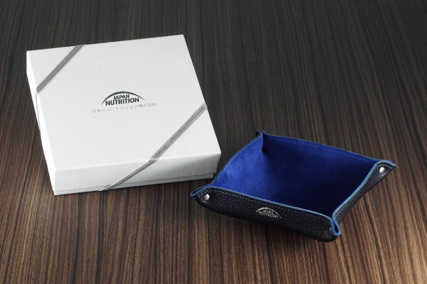ナチュラル革トレー・オリエンタル仕様と記念品用化粧箱