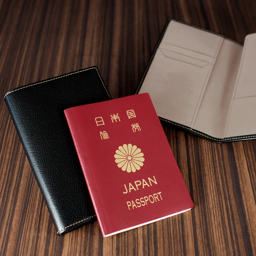 本革製パスポートケース <ツートン仕様>