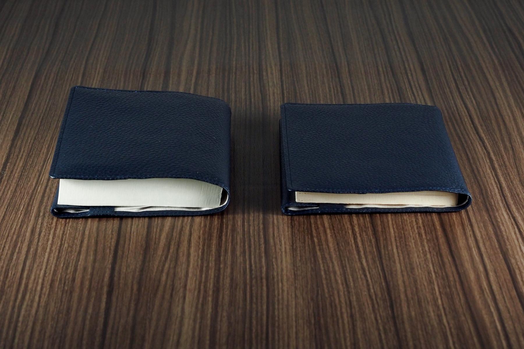 本革製ブックカバー・ノーブルの厚さ調整機能